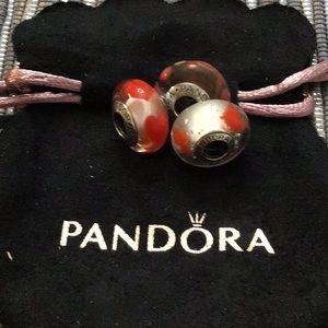 Pandora charms lot of 3